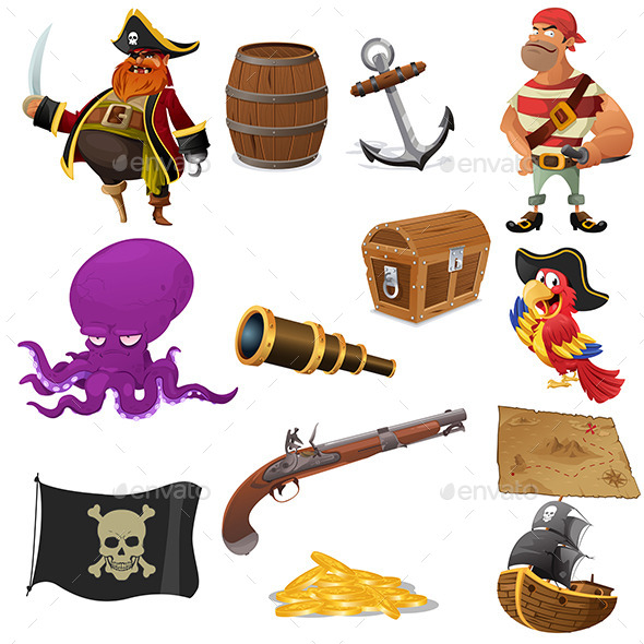GraphicRiver Pirate Icons 9781748