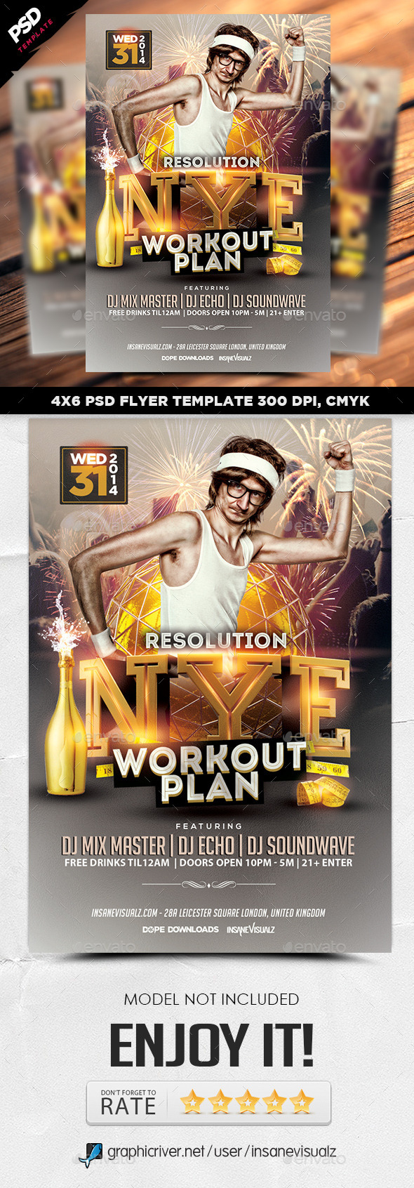 GraphicRiver NYE Resolution Workout Plan Flyer 9717979