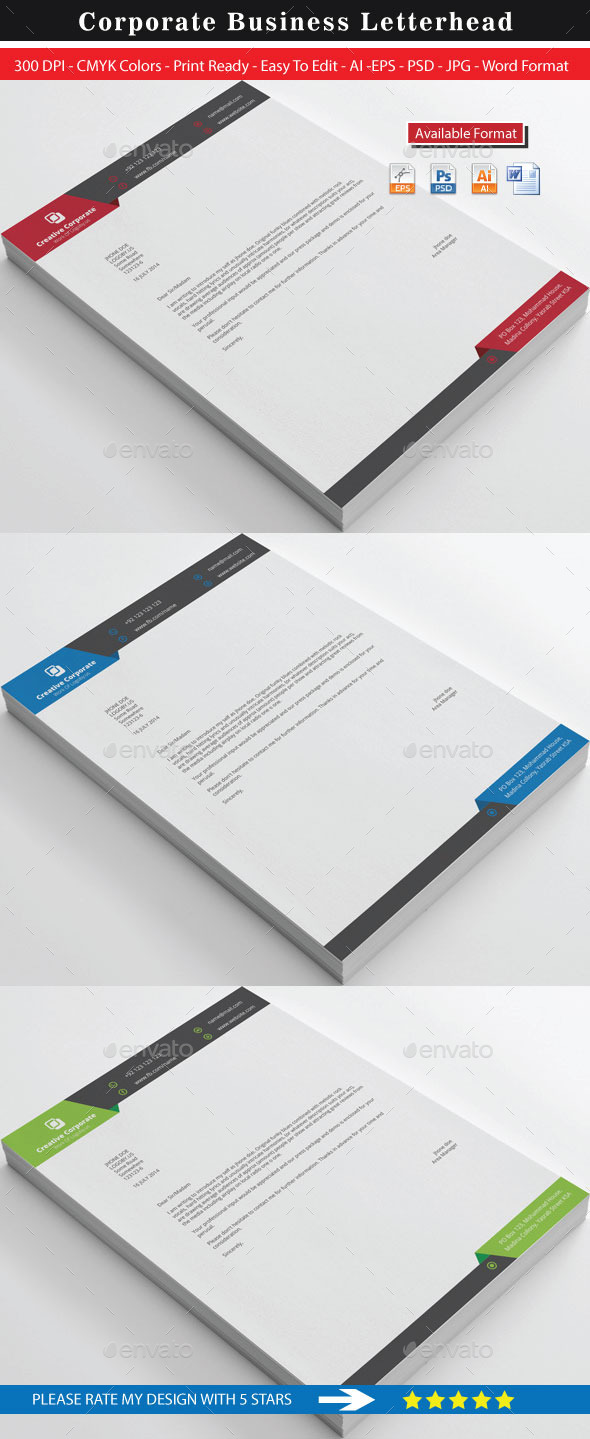 Creative Corporate Real Estate Letterhead