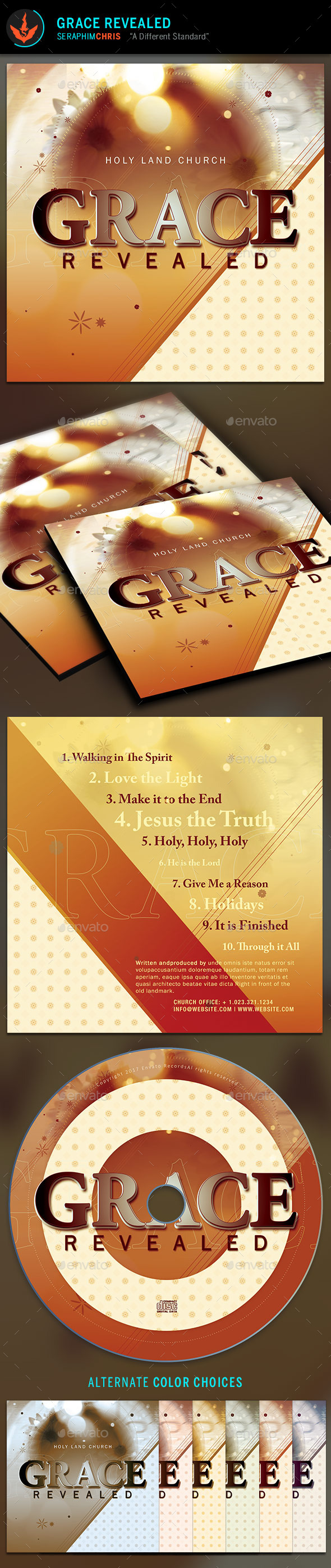 GraphicRiver Grace Revealed CD Artwork Template 9781802