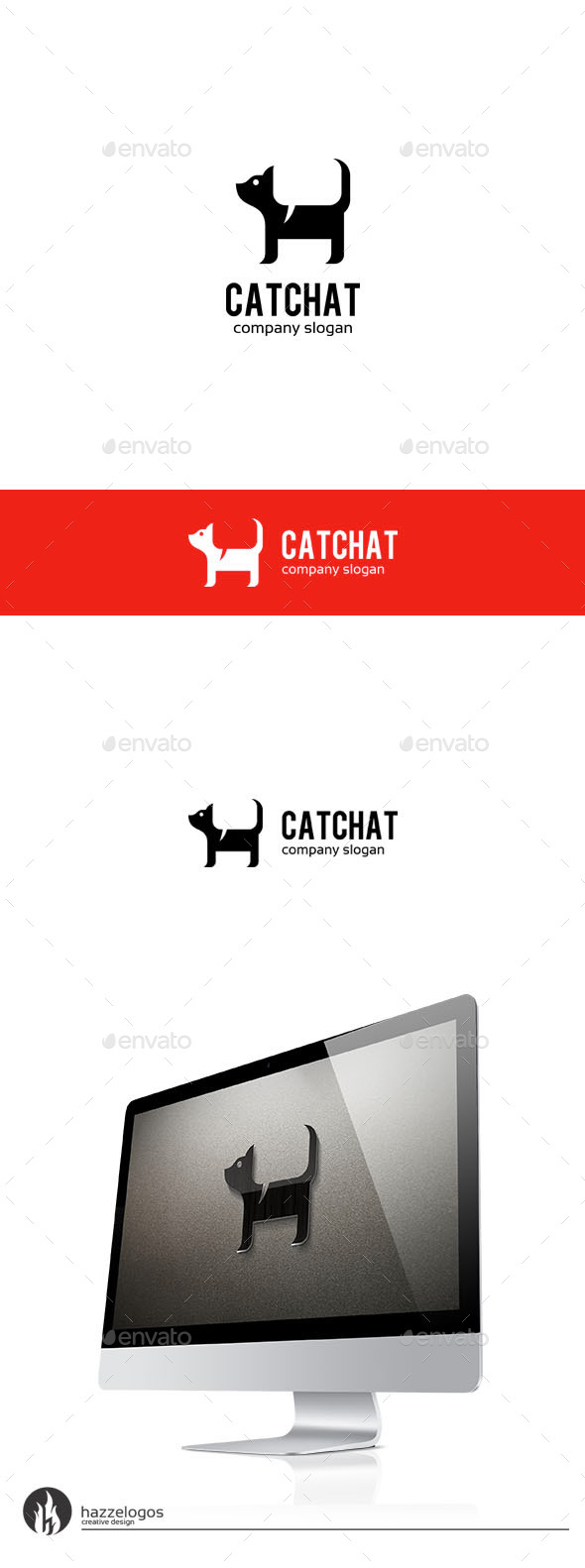 GraphicRiver Cat Chat Logo 9781803