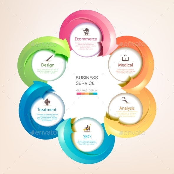 GraphicRiver Set of Colorful Arrows 9781831