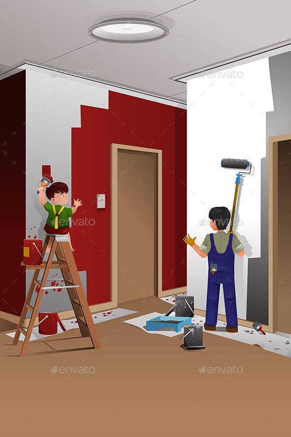 GraphicRiver Father and Son Painting a Wall 9781852