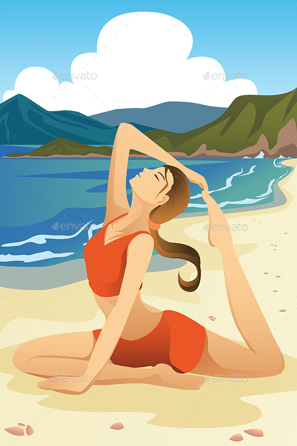 GraphicRiver Woman Practicing Yoga 9781956