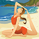 Woman Practicing Yoga - GraphicRiver Item for Sale