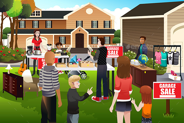 GraphicRiver People Having a Garage Sale 9782032