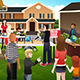 People Having a Garage Sale - GraphicRiver Item for Sale