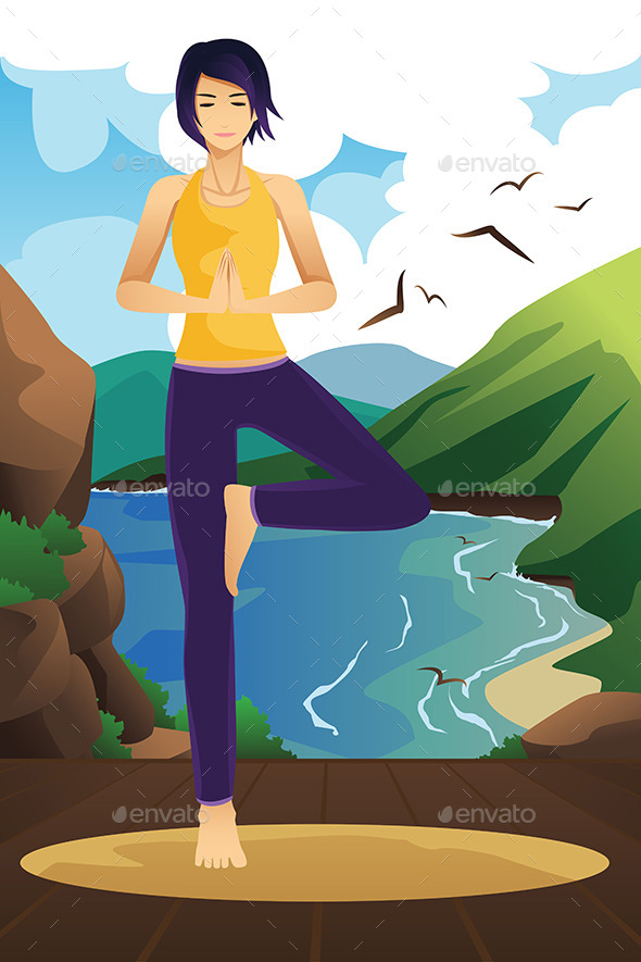 GraphicRiver Woman Practicing Yoga 9782053