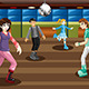Teenagers Roller Skating in an Indoor Arena - GraphicRiver Item for Sale