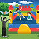 Kids Playing in a Bouncy House - GraphicRiver Item for Sale