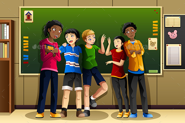 GraphicRiver Multi-Ethnic Students in the Classroom 9782236