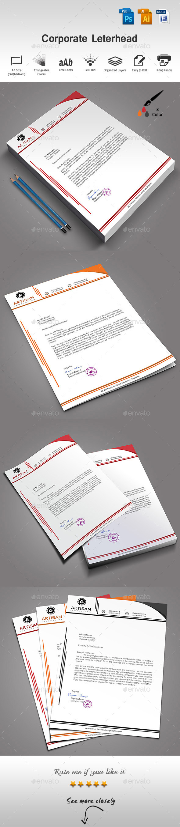 GraphicRiver Corporate Letterhead 9723315