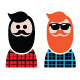 Lumbersexual Man - GraphicRiver Item for Sale