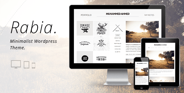 ThemeForest Rabia Personal Minimalist Wordpress Theme 9716685