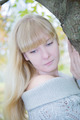 Blonde girl  in the autumn park - PhotoDune Item for Sale