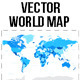 High Detail Blue World Map - GraphicRiver Item for Sale