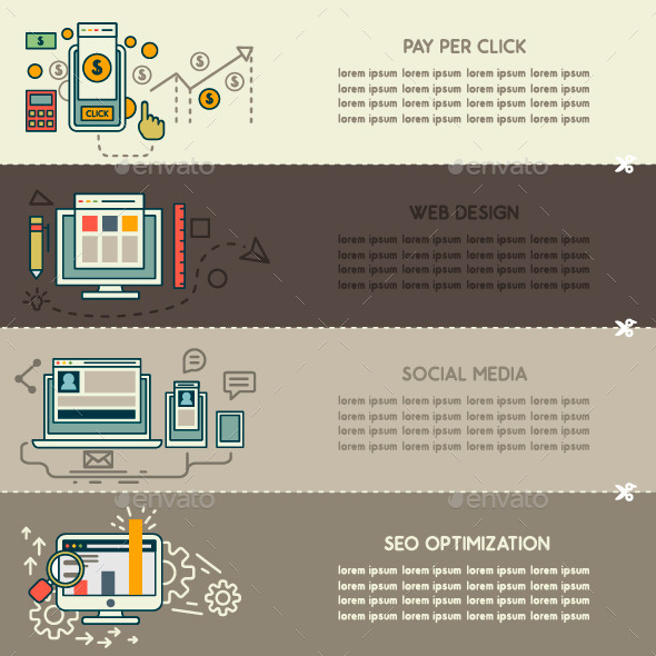 GraphicRiver Set of Internet Technology Banners 9739407