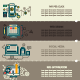 Set of Internet Technology Banners - GraphicRiver Item for Sale