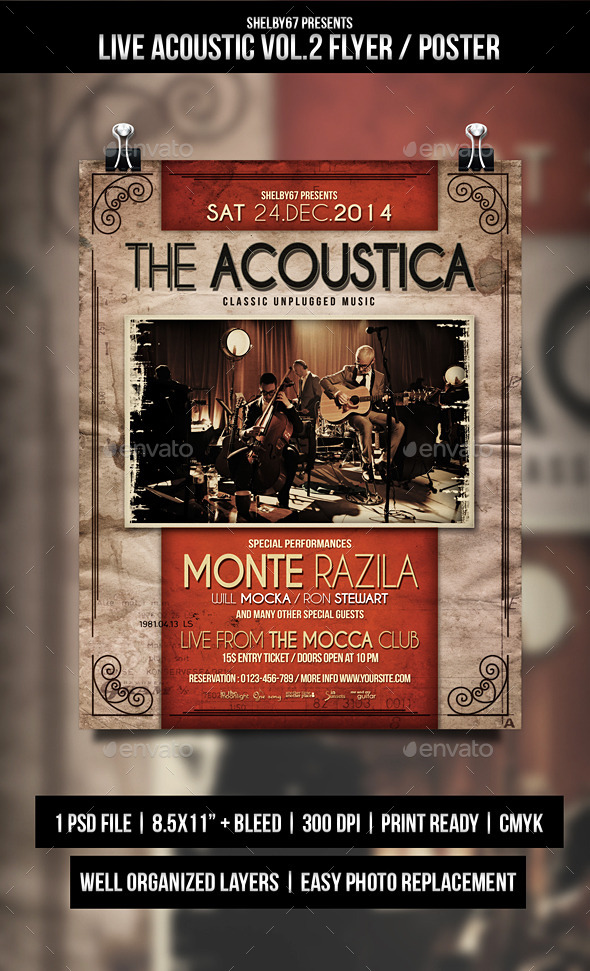GraphicRiver Live Acoustic Flyer Poster Vol.2 9783899