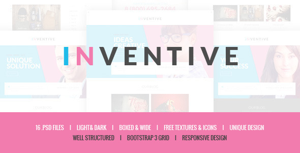 ThemeForest Inventive Creative PSD Template 9783915
