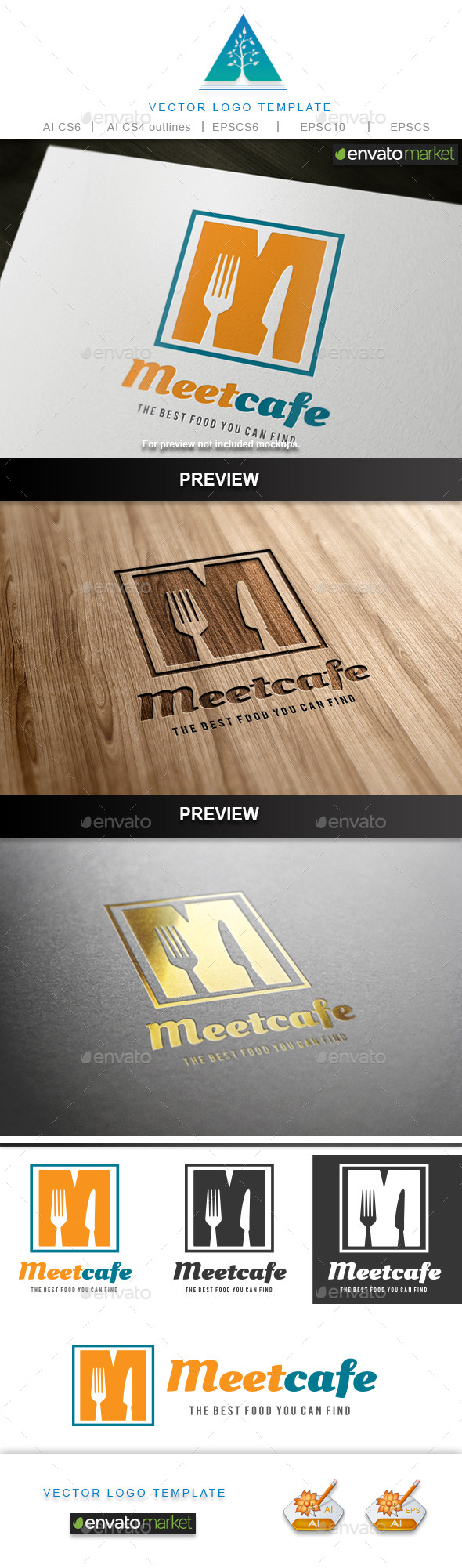GraphicRiver Meet Cafe Logo 9784051