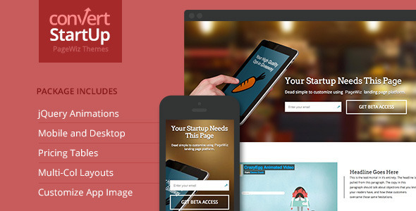 Startups Multi-Purpose PageWiz Template