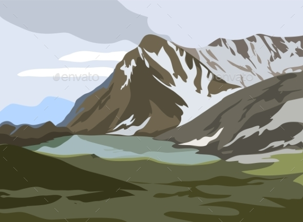 GraphicRiver Mountains Landscape 9784275