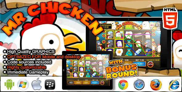Slot Machine Mr Chicken Casino HTML5 Game