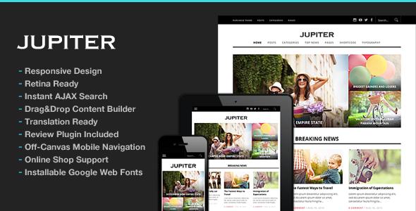 Jupiter Responsive Magazine Theme