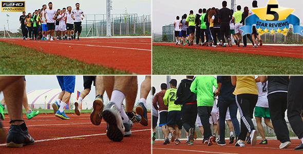 Running in Stadium