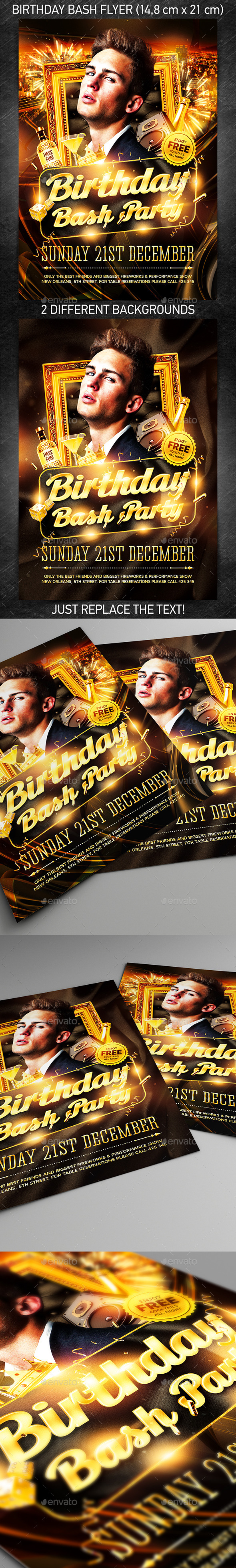 GraphicRiver Birthday Bash Party Flyer 9785203