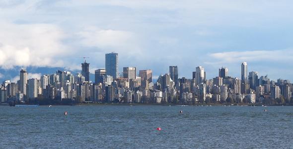 Modern City Skyline Vancouver 01