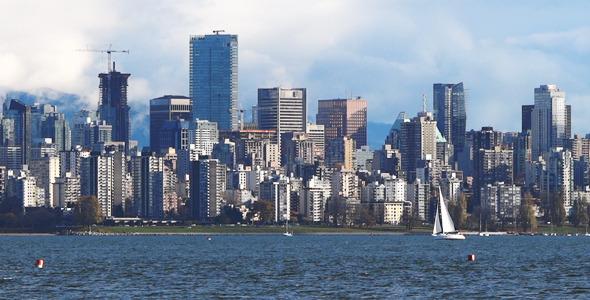 Modern City Skyline Vancouver 02