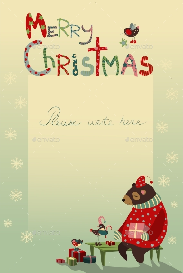 GraphicRiver Christmas Greeting Card 9785245