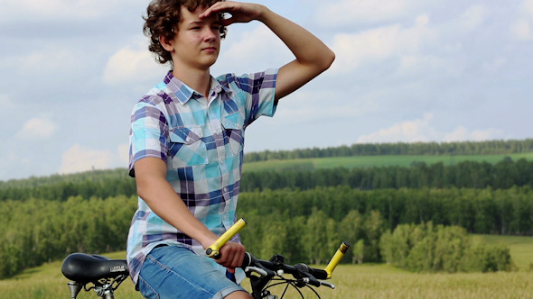 Boy With Bicycle 7