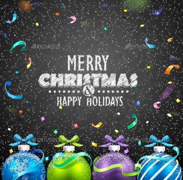 GraphicRiver Christmas Balls and Confetti 9785614