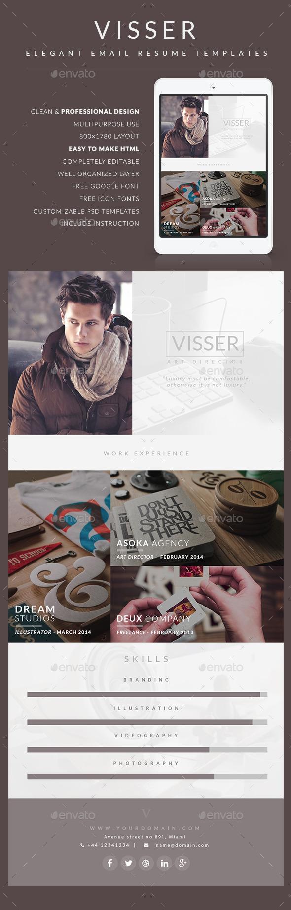GraphicRiver CV Email Template Visser 9785615