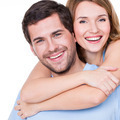 Closeup portrait of beautiful happy couple. - PhotoDune Item for Sale