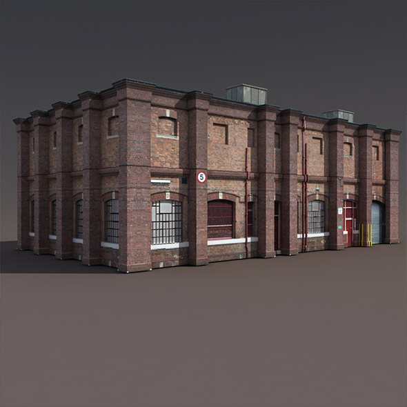 3DOcean Old Factory Low Poly 3D Building 9785880