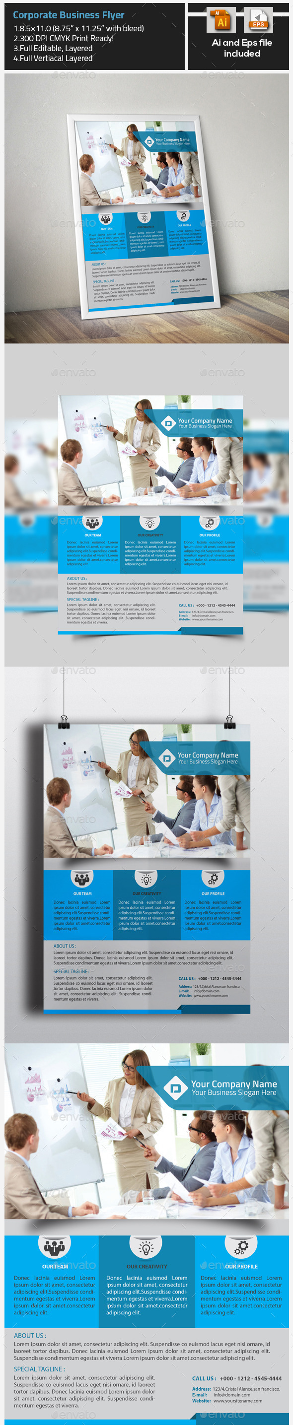 GraphicRiver Corporate Nice Business Flyer 9785926