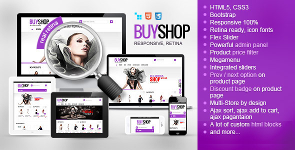 BuyShop - Responsive Retina ready CS-Cart Theme