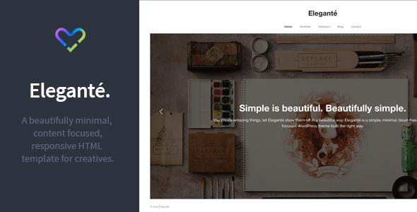 ThemeForest Elegante Responsive Portfolio HTML Template 9785952