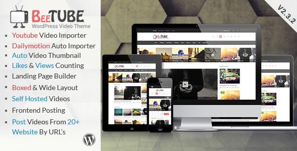 BeeTube Video WordPress Theme