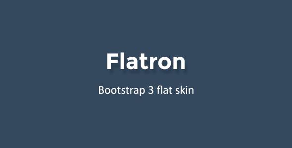 CodeCanyon Flatron Bootstrap 3 Flat Theme 9786048