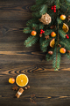 Christmas decoration on wooden table - PhotoDune Item for Sale