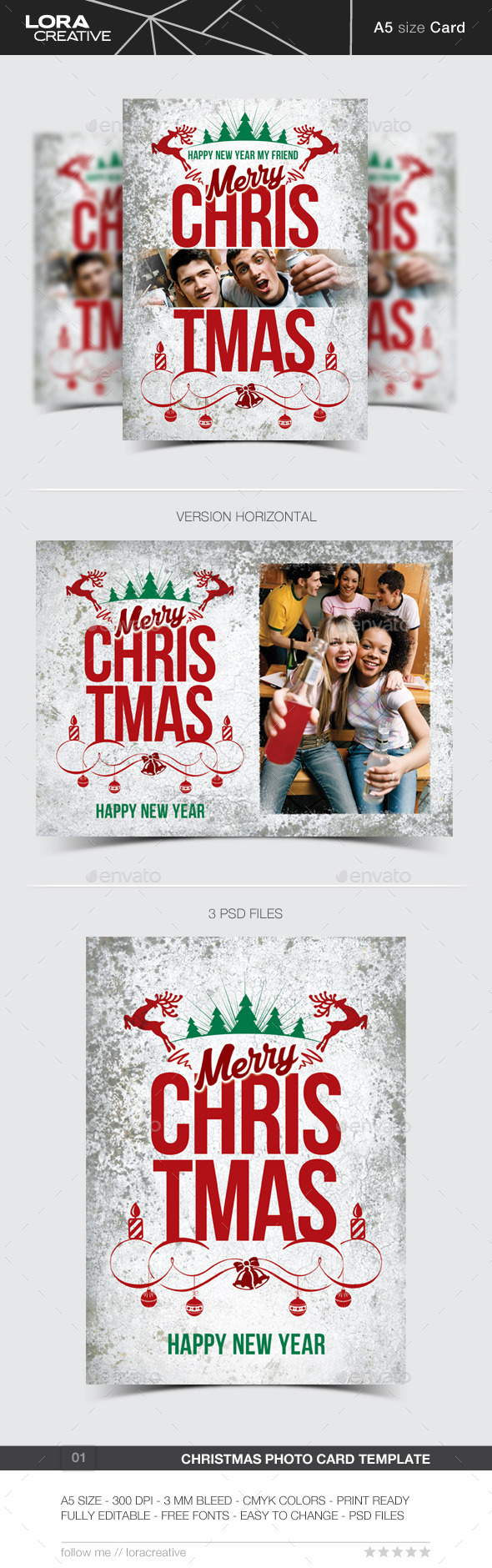 GraphicRiver Christmas Greeting Photo Card 9786113