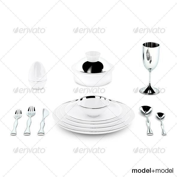 3DOcean Sieger My china Treasure dinnerware 124377