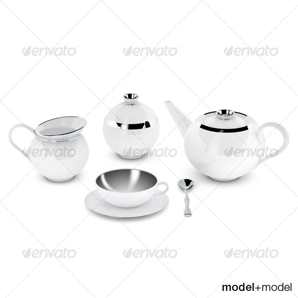 Sieger My china Treasure tea set - 3DOcean Item for Sale