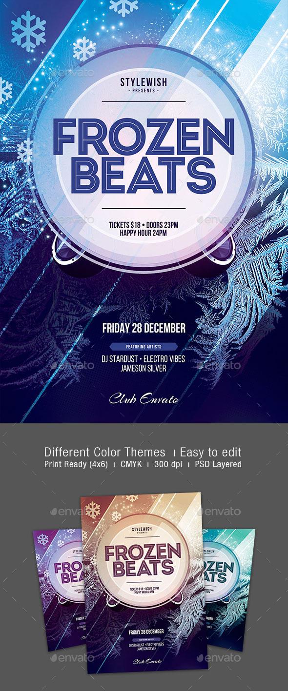 GraphicRiver Frozen Beats Flyer 9786368