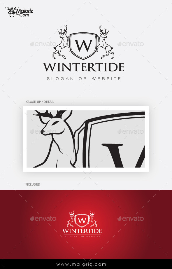 Winter Crest Logo Template